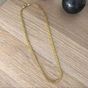 Vintage Jewelry - Vintage Thick Gold Necklace